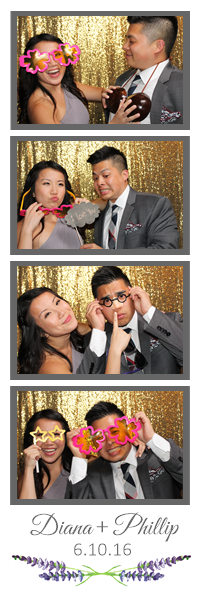 Wedding Photo Booth Photos with Glitter Background 2×6 Strip