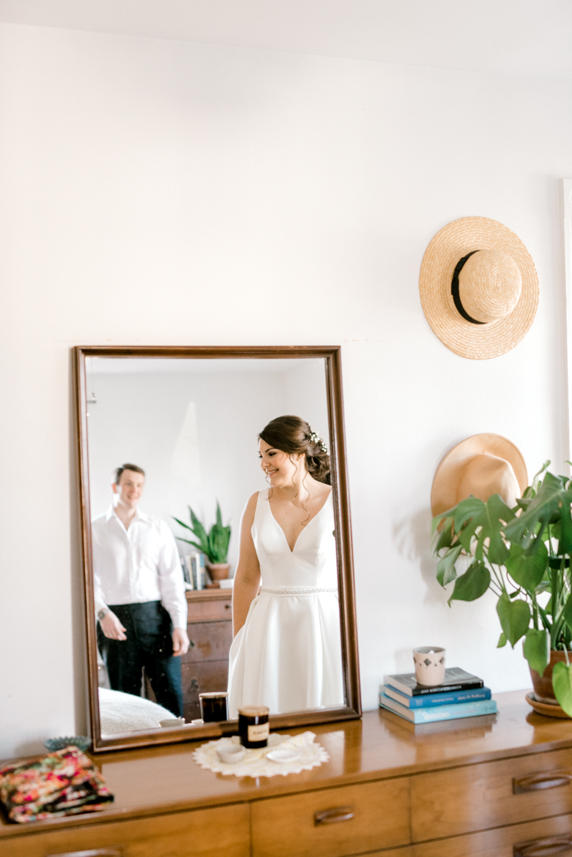 Mid Century Modern Inspired AirBnB Wedding on the Beach
