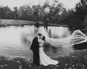 Romantic Rainy Farm at Eagles Ridge Wedding