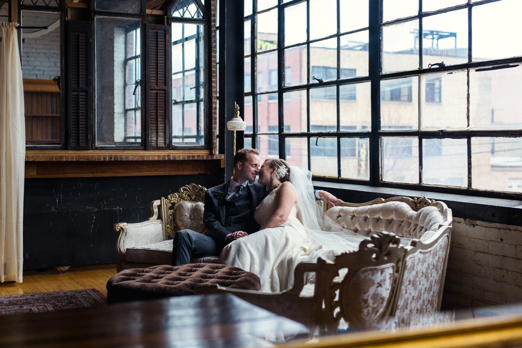 Emily & John's Vintage Chicago Wedding at Salvage One