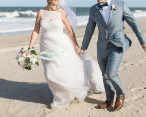 Romantic Beach Wedding at The Indian River Lifesaving Station
