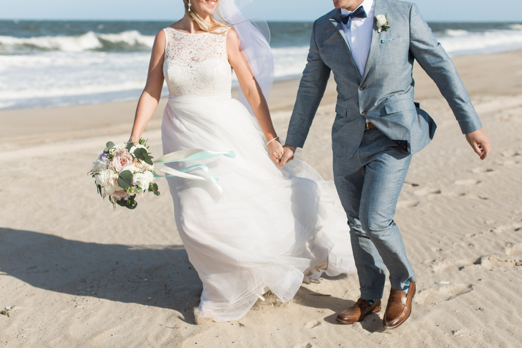 Romantic Beach Wedding at The Indian River Lifesaving Station