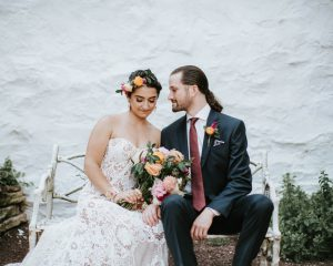 Karina & Greg // Floral Farm Wedding at Ash Mill Farm