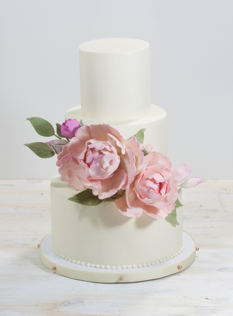 Peonies-Wedding-Cake-Trio-whipped-bakeshop