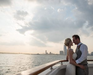 NYC Springtime Destination Wedding on the River