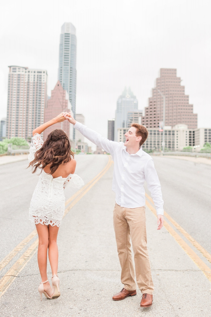 south congress bridge austin engagement photos 5