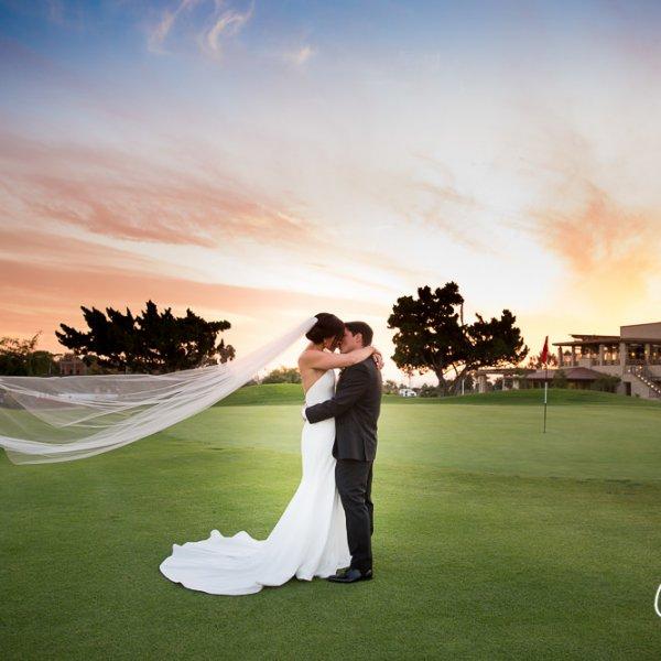 47_wind-blown-veil-vera-wang-bridal-gown-Newport-Beach-Country-Club-wedding-photo