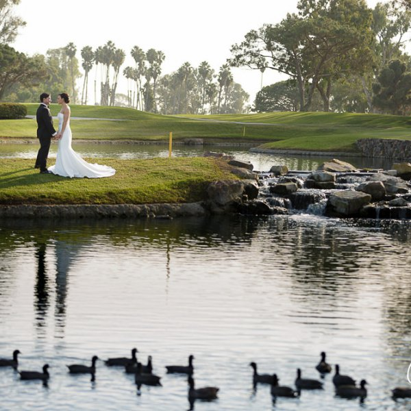 17_golf-course-wedding-Newport-Beach-Country-Club-ducks-waterfall-bride-groom