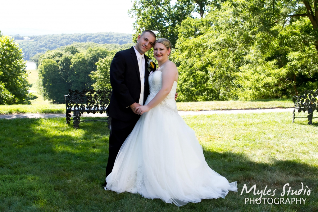 A beautiful portrait of the Bride and groom taken at Locust Grove in Poughkeepsie NY.