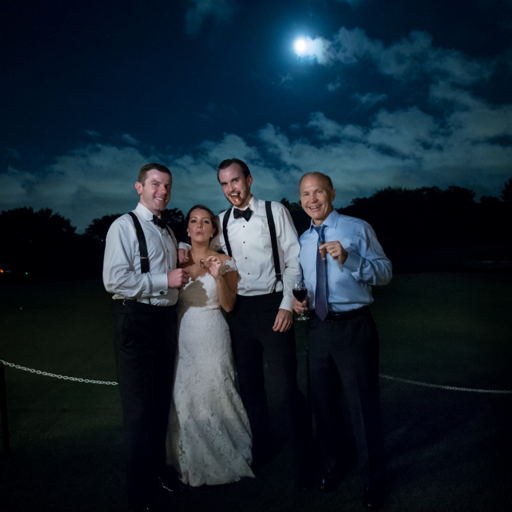 brooklawn country club wedding cigar portrait