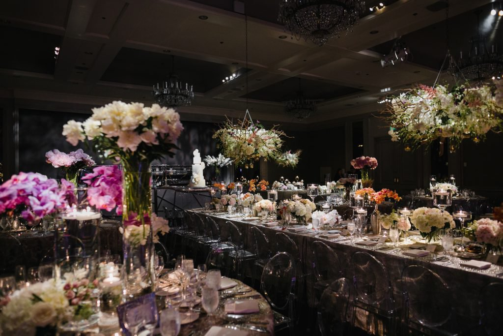 Flowers everywhere at stunning Logan Hotel wedding