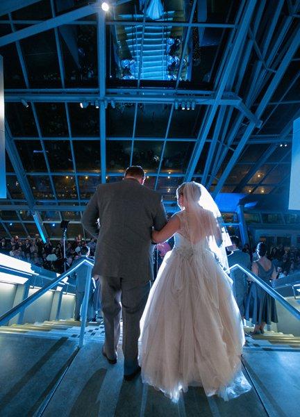 akron art muesum wedding reception