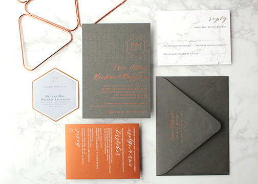 Fleurish_ink_wedding_invitation_Gray_copper