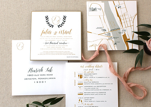 Fleurish_ink_watercolor_leaves_wedding_invitation