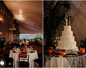 A Dark and Romantic Halloween Wedding at Greenville Country Club