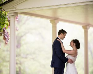 A little rain never stopped anyone from getting married