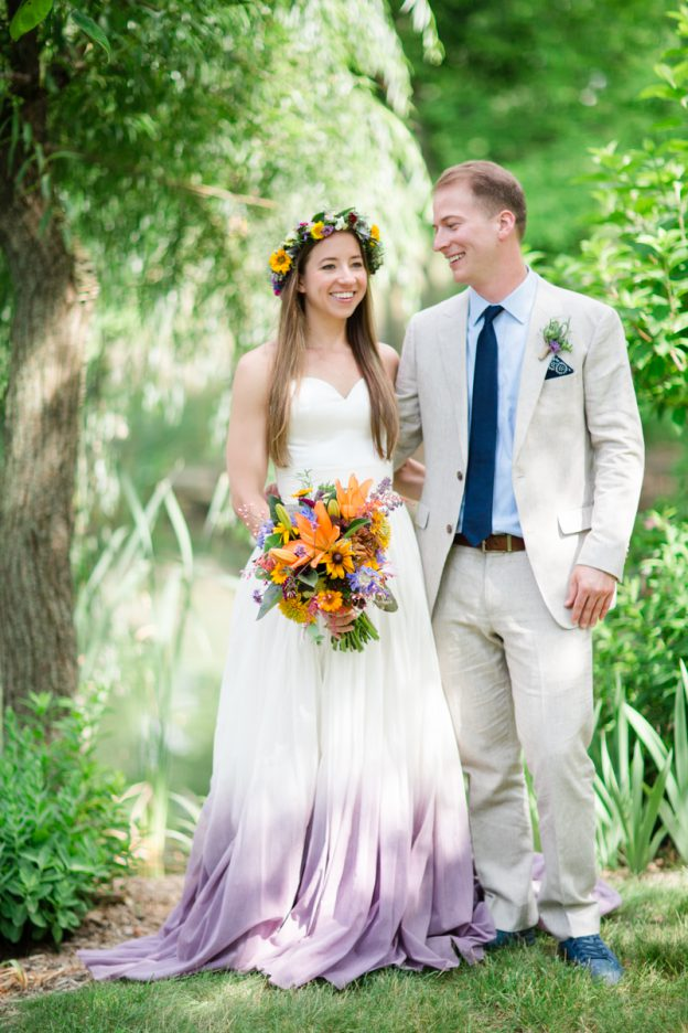 Bride and Groom at Honey Brook Farm Wedding planned by Kaleidoscope Weddings