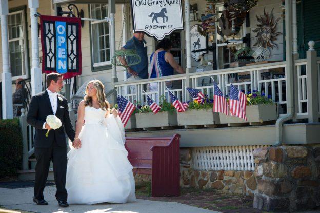 Bride And Groom At Wedding Chesapeake Inn