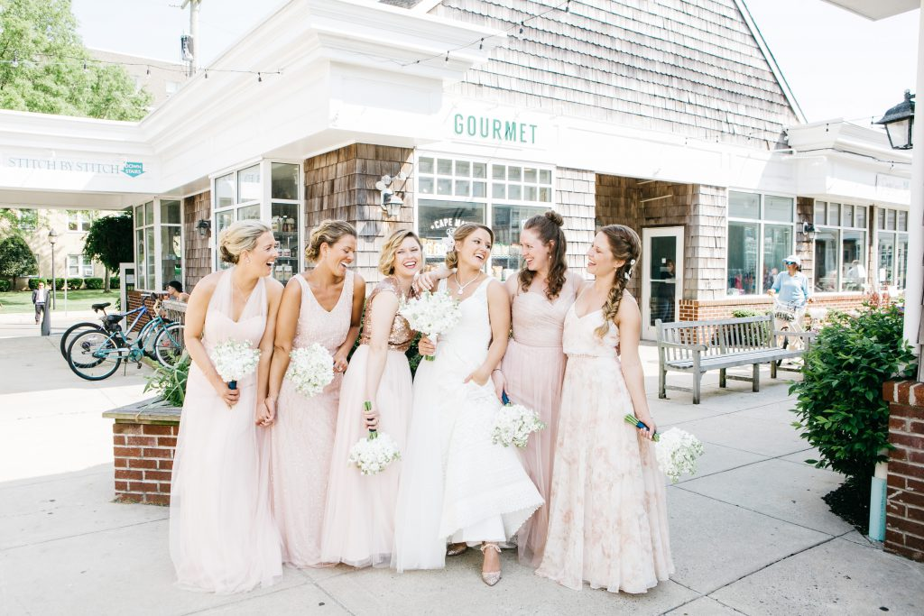 Bride and bridesmaids at Cape May Beach Wedding