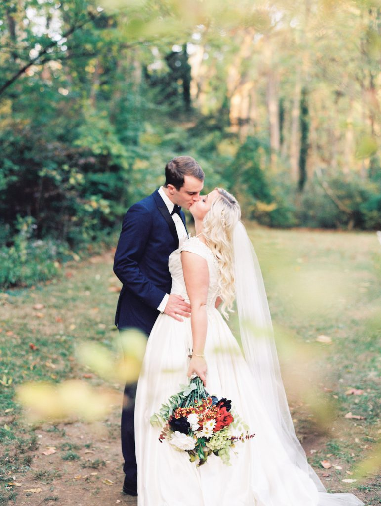 "Gustav Klimt ""The Kiss"" Inspired Fall Wedding at The Old Mill at Rose Valley"