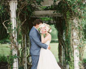 Summer wedding in a barn