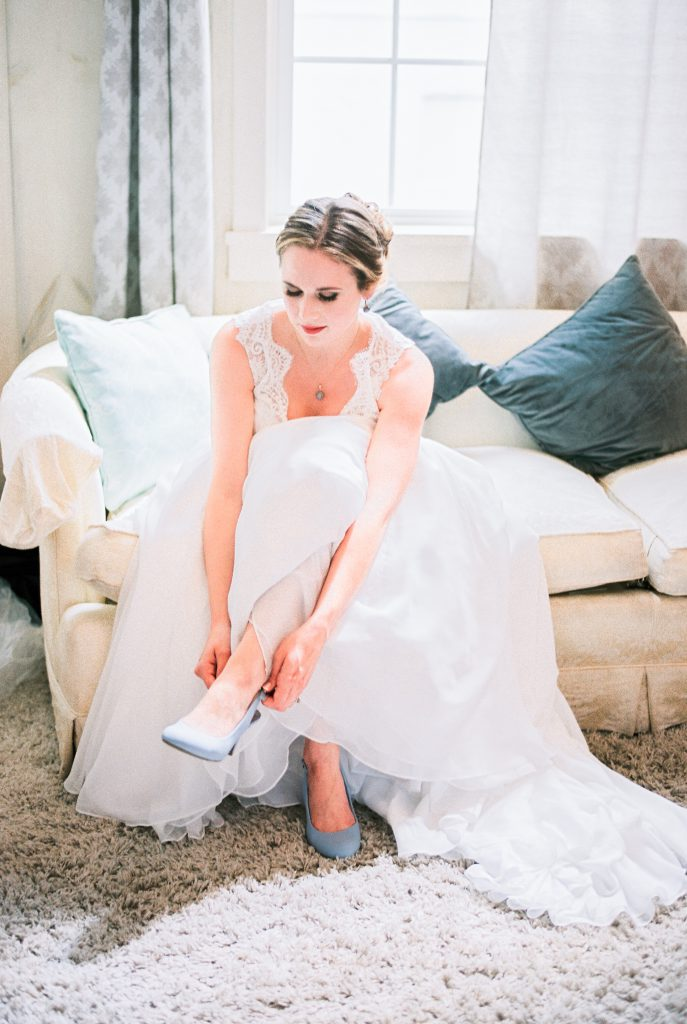 Bride getting ready for Stoltzfus Homestead & Gardens Wedding