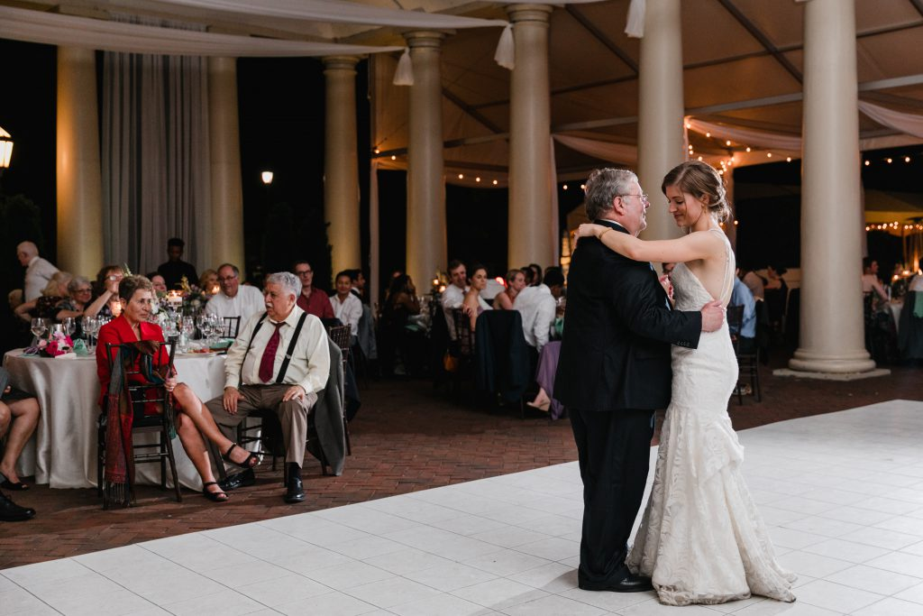 Father Daughter Dance at Philadelphia Water Works Wedding. Photo by Love Me Do Photography.