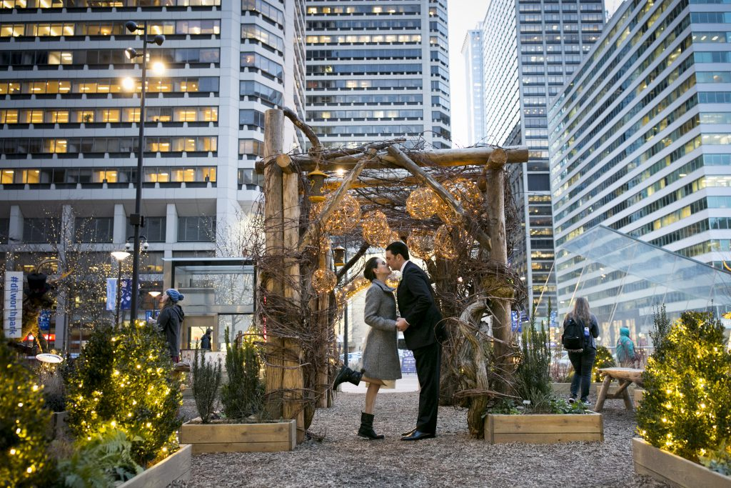 Dilworth Park Bride and Groom