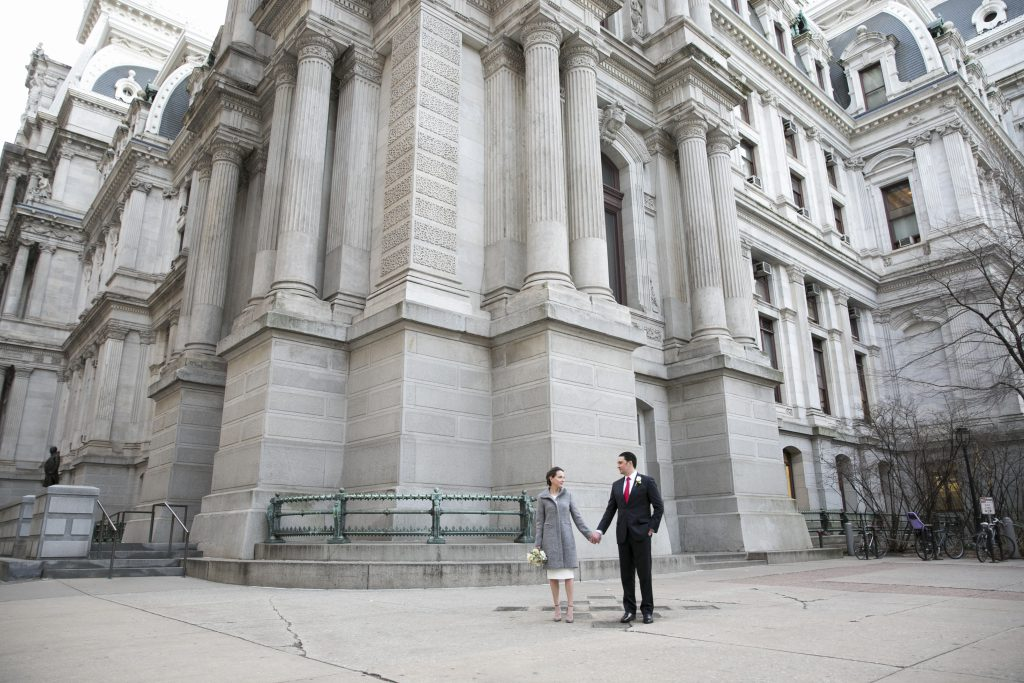 Small Wedding at Philadelphia City Hall