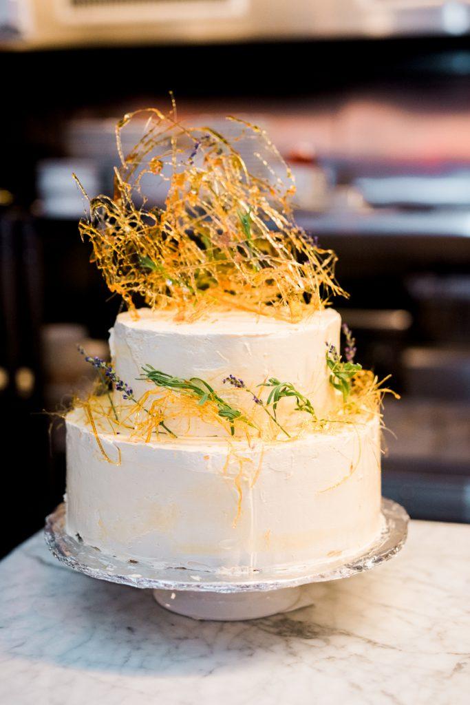 Wedding Cake with modern sugar art design