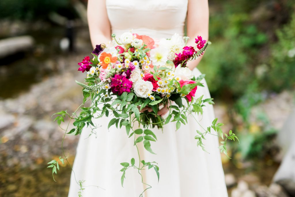 Wild flower mountain wedding bouquetWild flower mountain wedding bouquet pink green orange yellow by devon and pinkett
