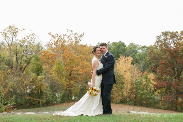 Bride and groom at John James Audubon Center Wedding