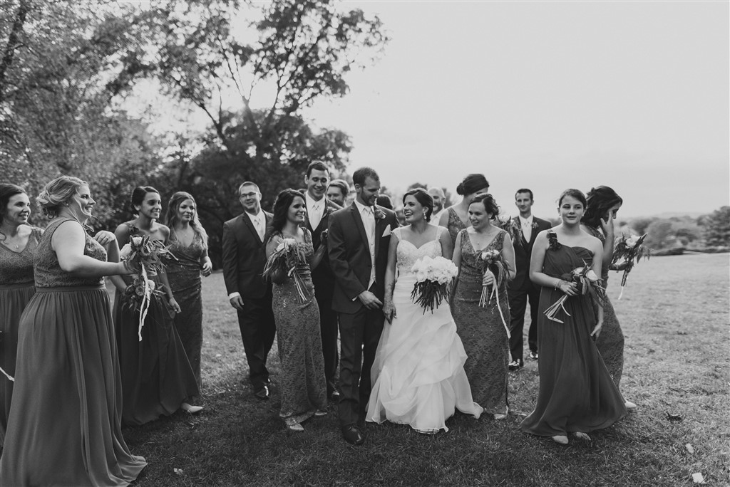 bridal party with bouquets by fresh designs florist
