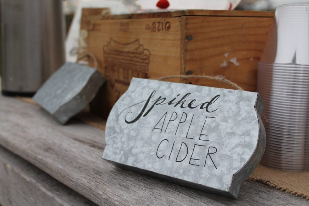 Rustic signage at Candlelight Farms Wedding