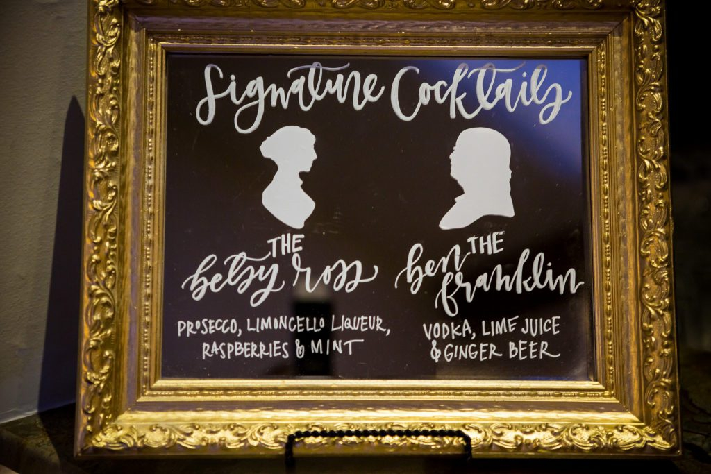 Philadelphia Themed Signature Cocktails - The Betsy Ross and The Ben Franklin