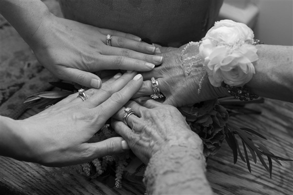 Wedding tradition - celebrating four generations of brides. Photo by Amy Tucker Photography
