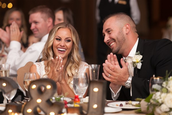 philadelphia wedding bride groom share laugh