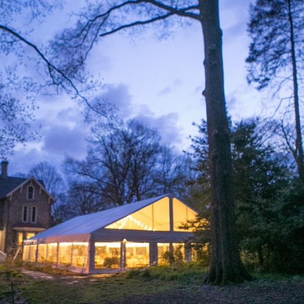 Tented Patio at Awbury Arboretum
