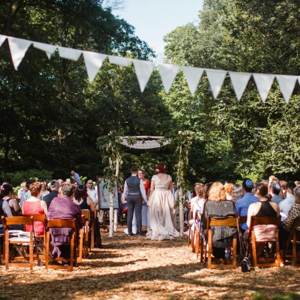Ceremony at Awbury Arboretum