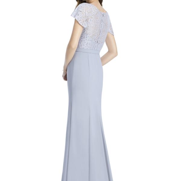 Jenny Packham by The Dessy Group, Pale Blue Bridesmaid Dress – Back