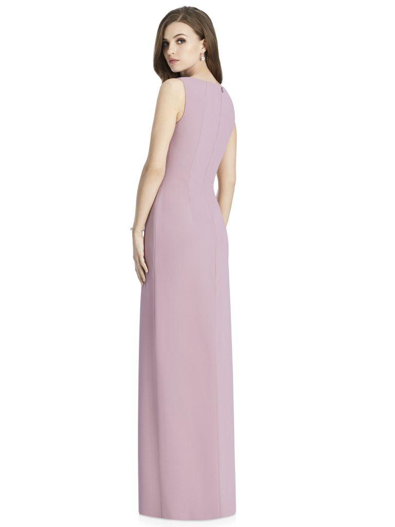 Jenny Packham by The Dessy Group, Light Purple Bridesmaid Dress with slit – Back