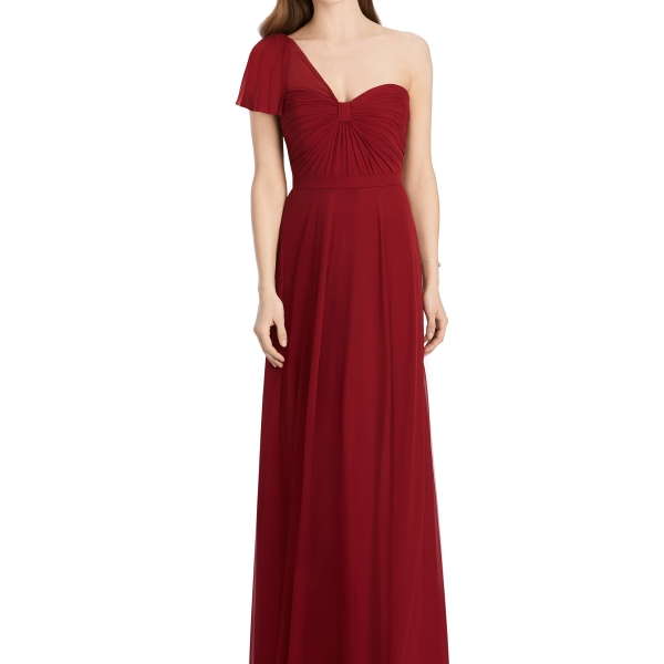 Jenny Packham by The Dessy Group, Deep Red Bridesmaid Dress – Front