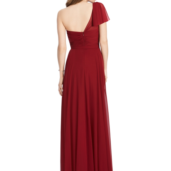 Jenny Packham by The Dessy Group, Deep Red Bridesmaid Dress – Back