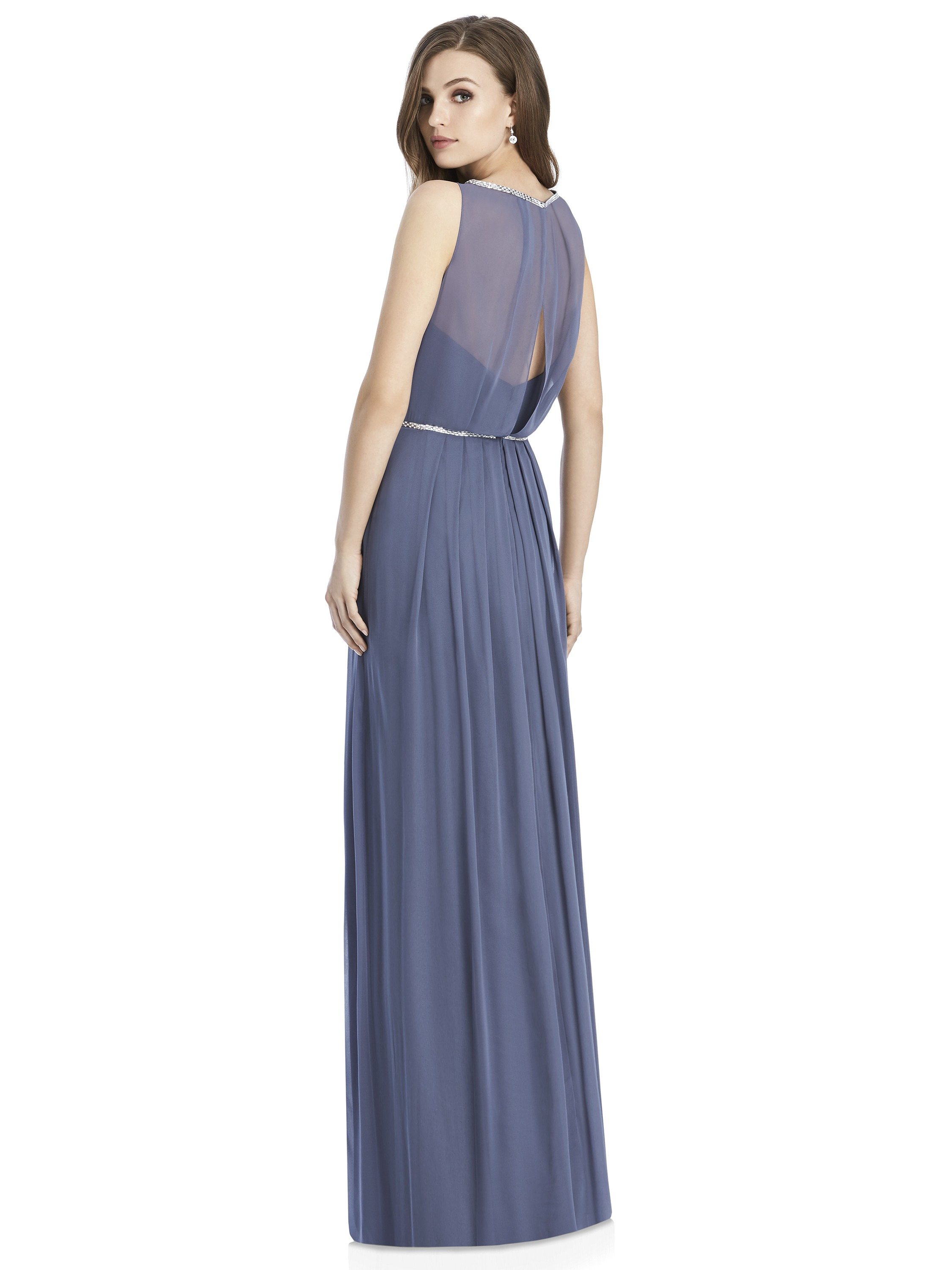 Jenny Packham by The Dessy Group, Periwinkle Bridesmaid Dress – Back