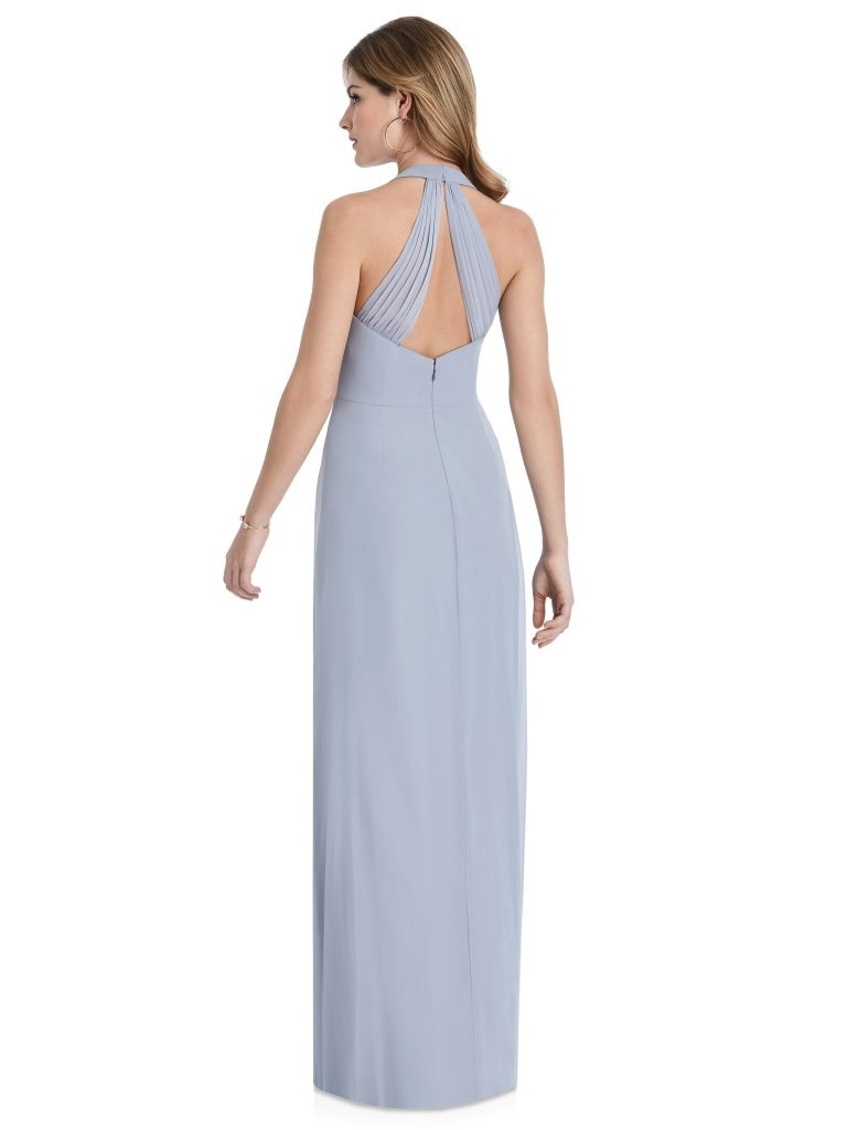 Light Periwinkle Bridesmaids Dress with v-cut, Dessy Group by The Dessy Group – Back