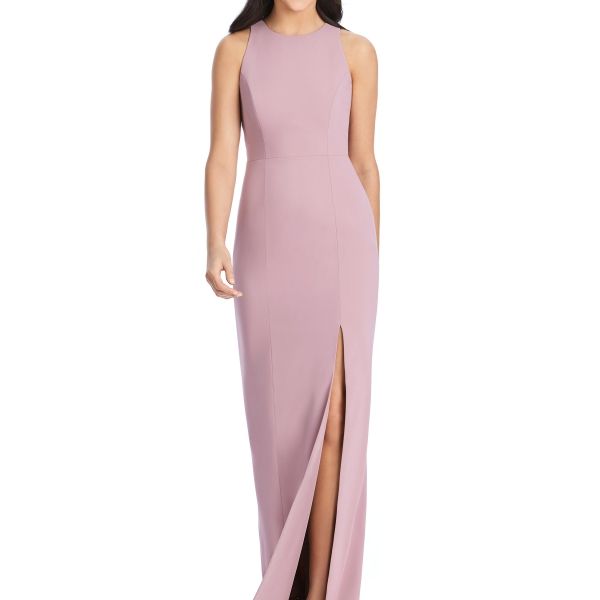 Mulberry Bridesmaids Dress – sleeveless with cut-out back, Dessy Group by The Dessy Group – Front