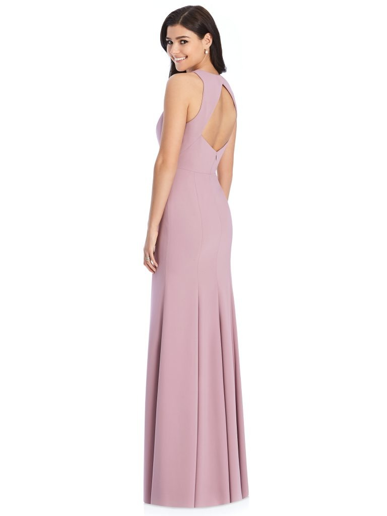 Mulberry Bridesmaids Dress – sleeveless with cut-out back, Dessy Group by The Dessy Group – Back