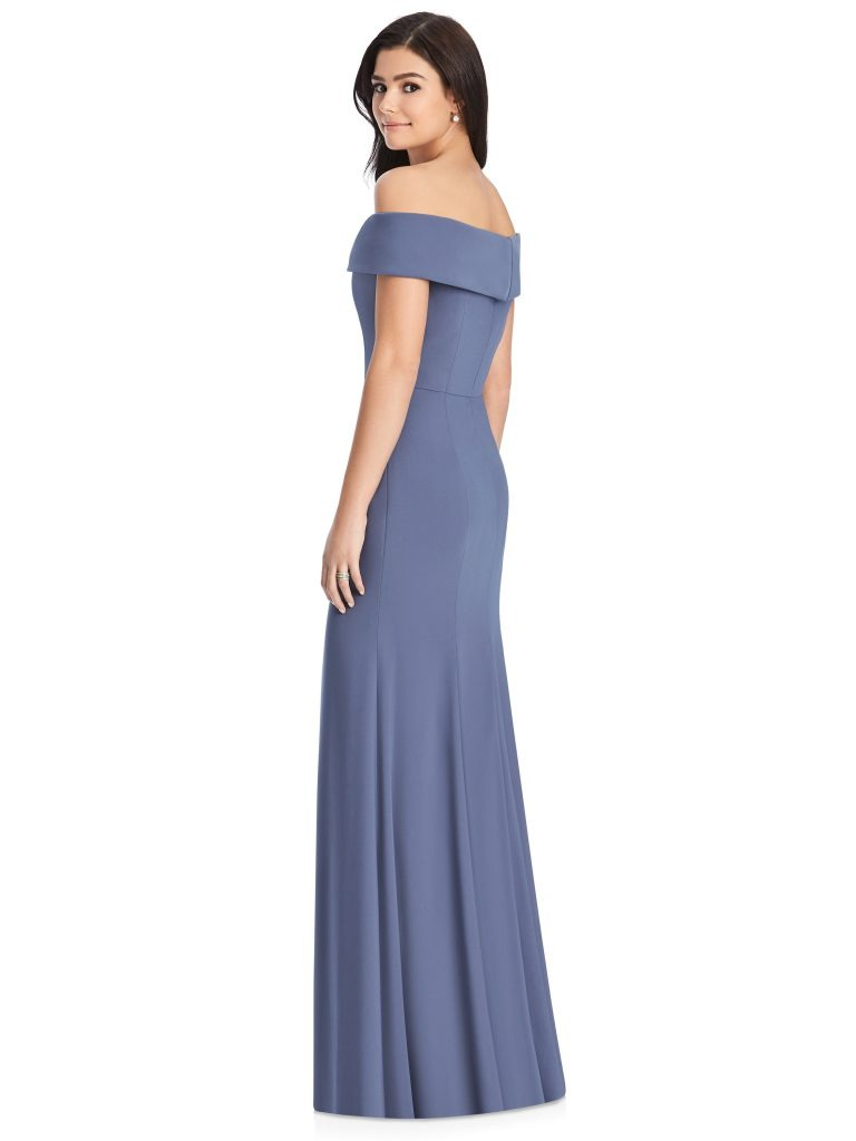 Indigo Bridesmaids Dress – off the shoulders, Dessy Group by The Dessy Group – Back