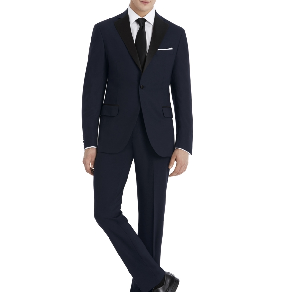 Navy and Black Suit Rental by After Six – Front