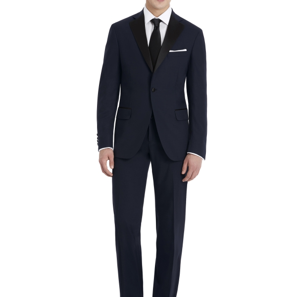 Navy and Black Suit Rental with white shirt by After Six – Front